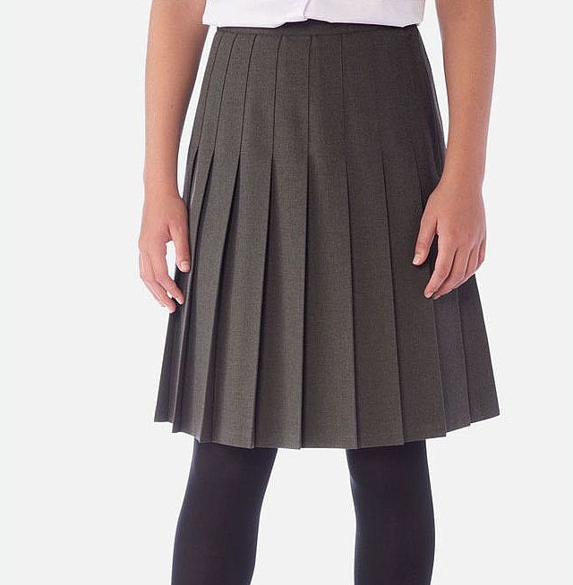 1984613da DavenPort Pleat Skirt- Grey - Uniform & Leisure Company
